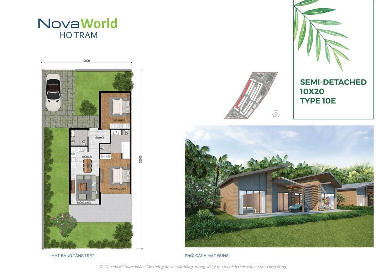 Thiết kế Biệt thự 10 x 20m NovaWorld Hồ Tràm
