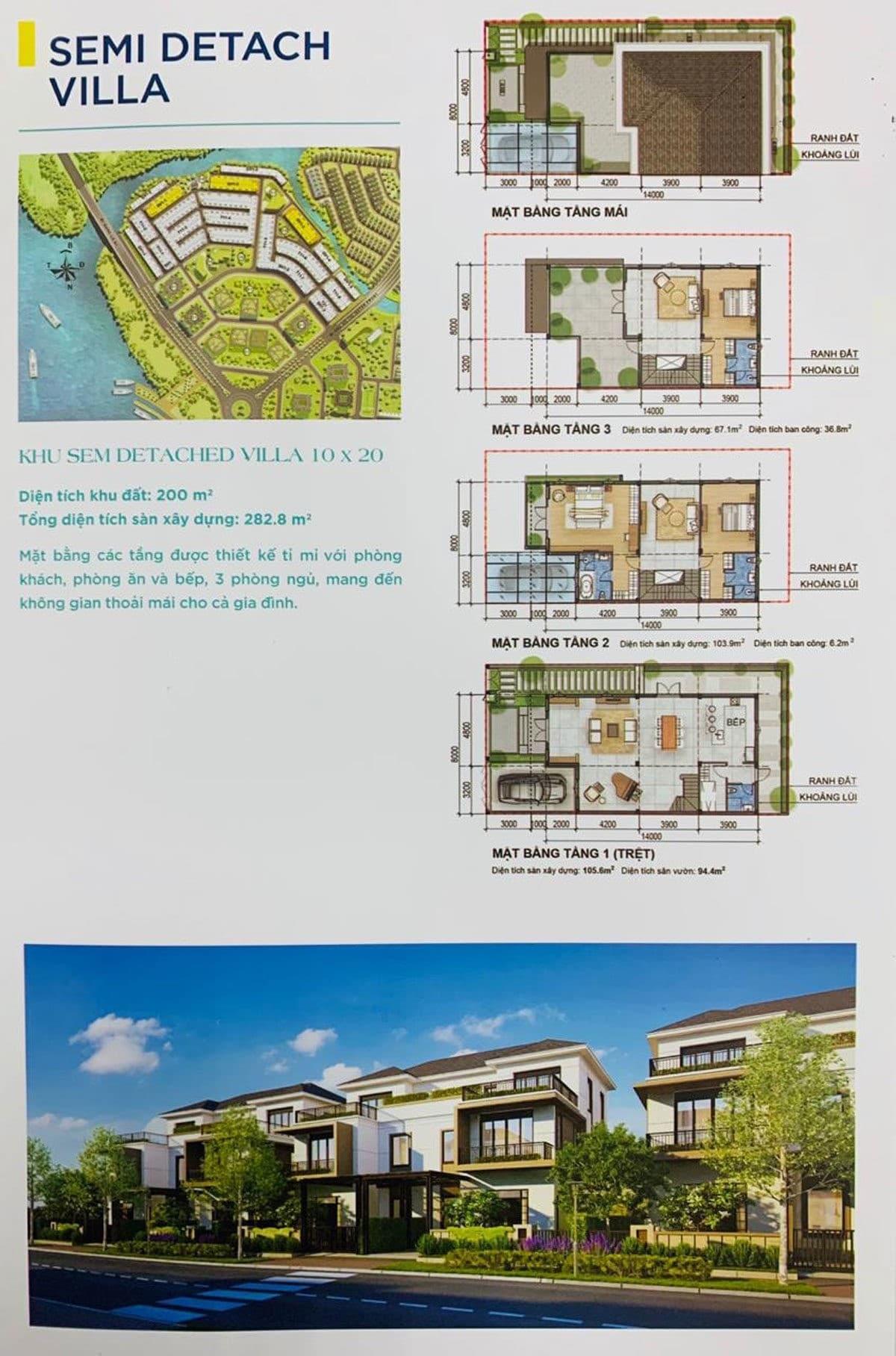 Thiết kế Khu Semi Detach Villa Dự án Aqua City