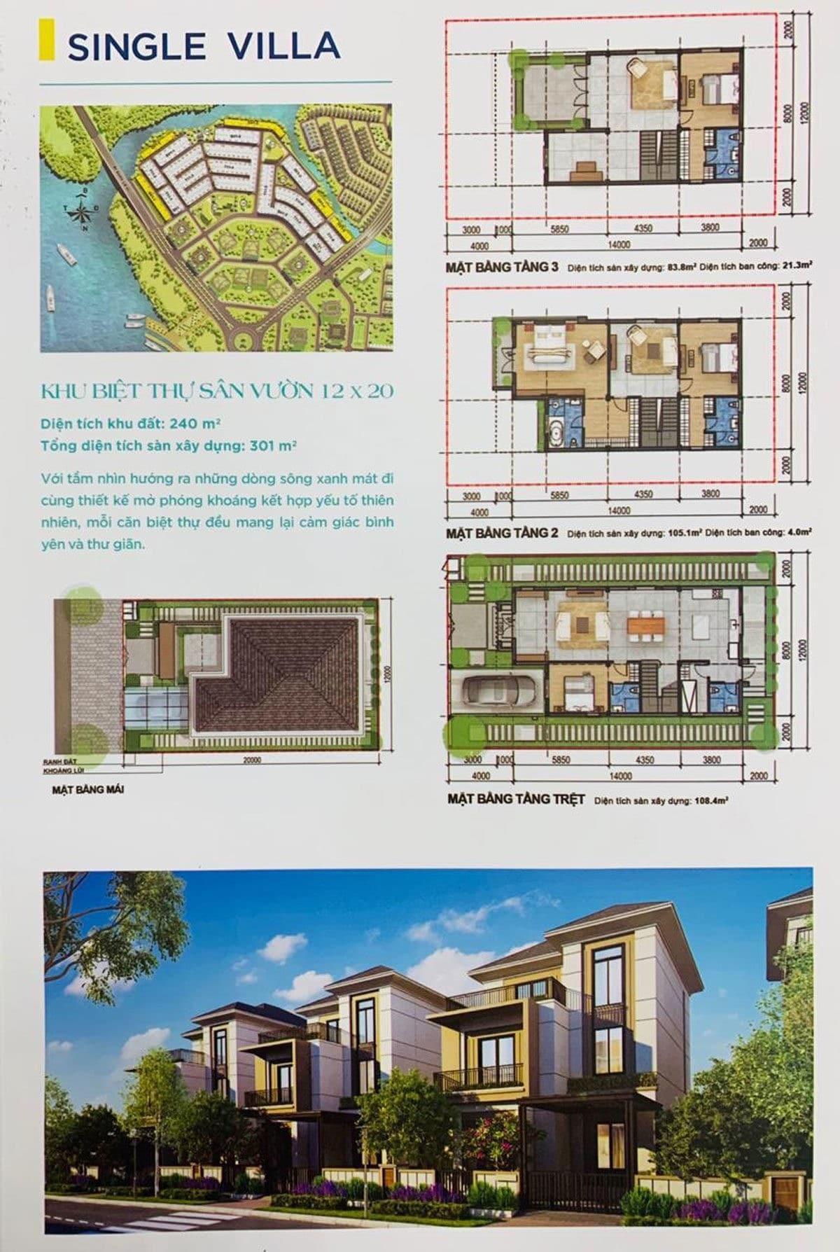 Thiết kế Khu Single Villa Dự án Aqua City