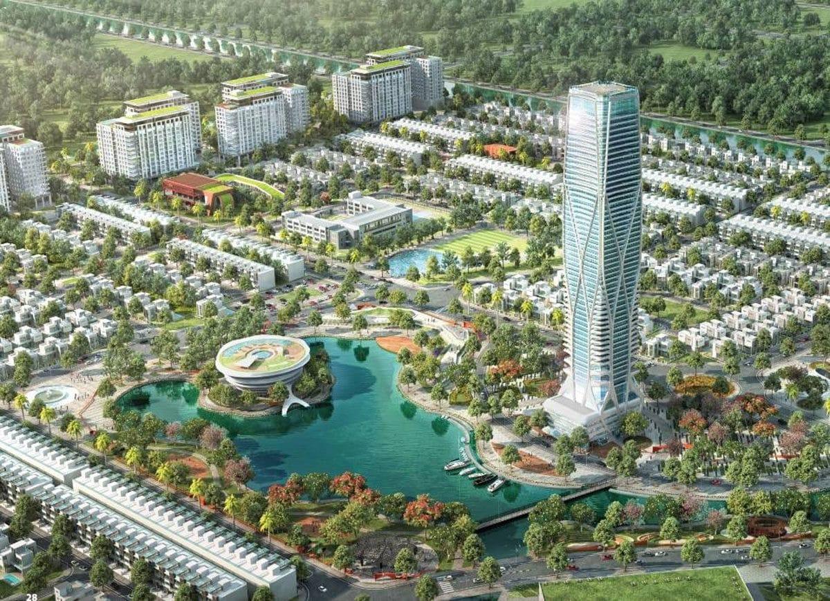 toa thap trung tam du an green city - DỰ ÁN GREEN CITY TỈNH LỘ 8 CỦ CHI