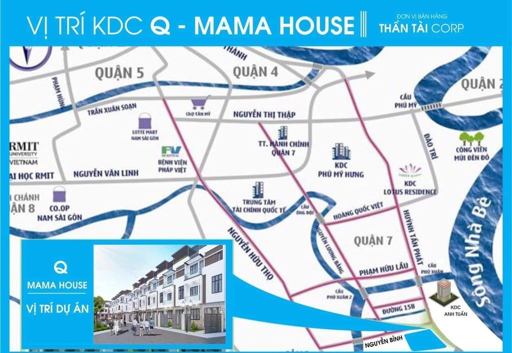 vị trí dự án Q mama House - DỰ ÁN Q MAMA HOUSE HUỲNH TẤN PHÁT