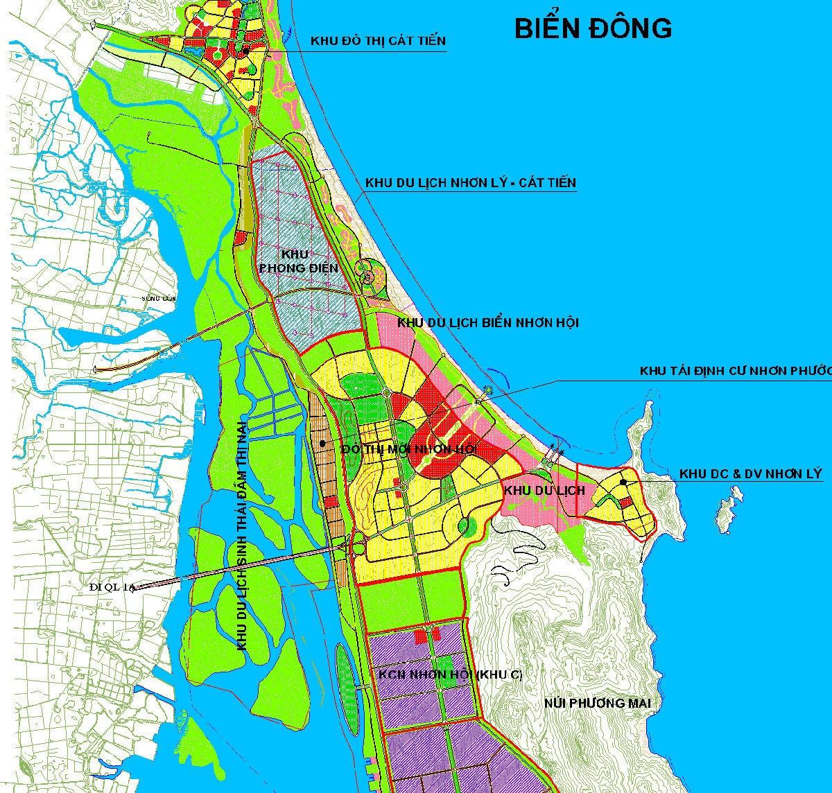 Vị trí Dự án Khu đô thị du lịch sinh thái Nhơn Hội 0902 648 528