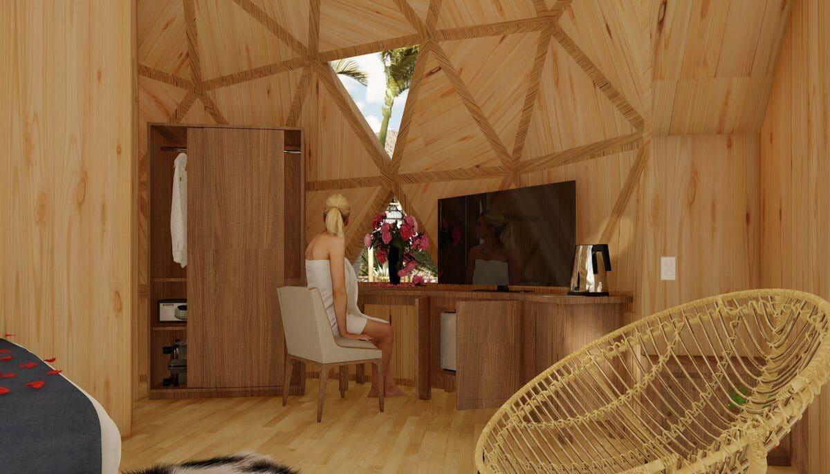 Nội thất bungarlow bên trong Nha Trang Riverside - NHA TRANG RIVERSIDE RESORT & SPA