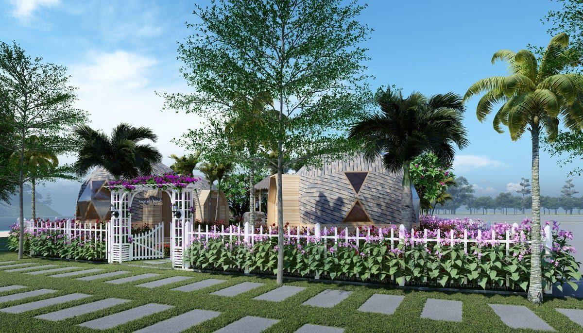 Phối cảnh Resort Nha Trang Riverside - NHA TRANG RIVERSIDE RESORT & SPA