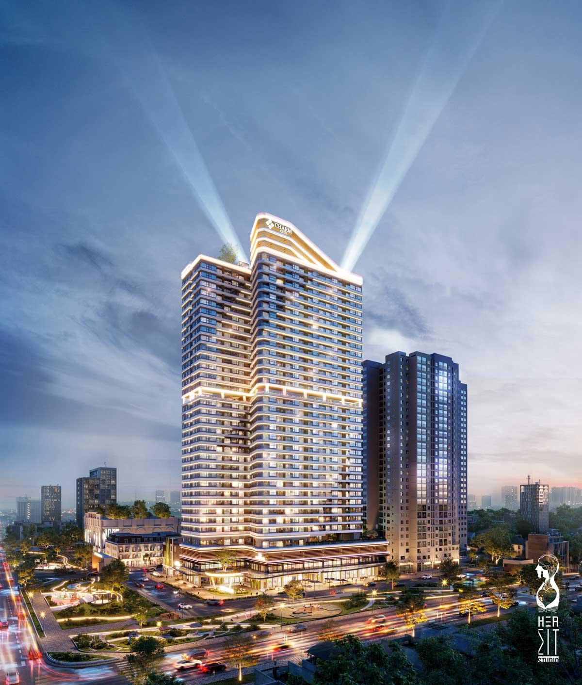 Phoi canh Block Charm Diamond - CHARM DIAMOND CITY