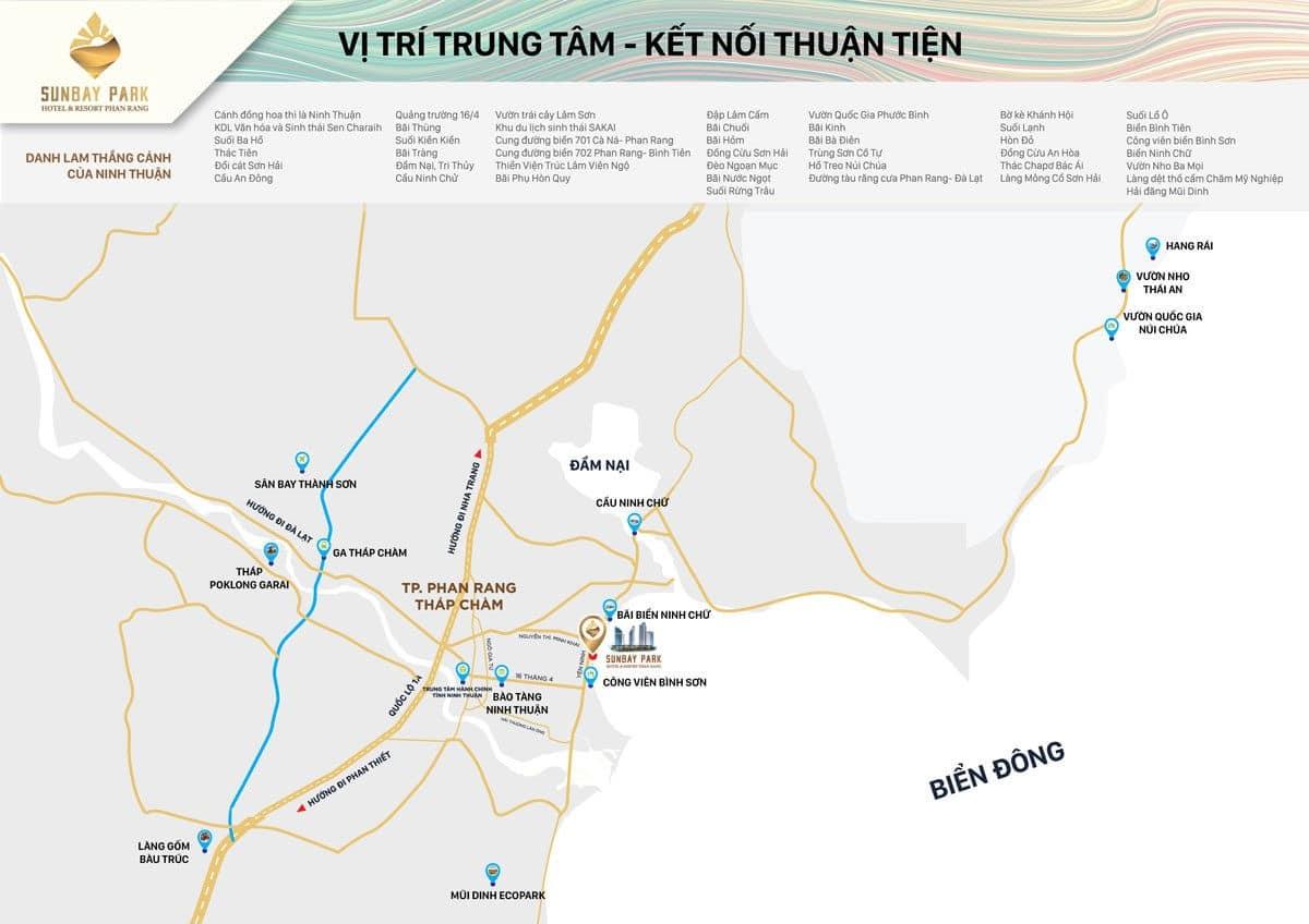 Bản đồ vị trí Dự án Sunbay Park Phan Rang