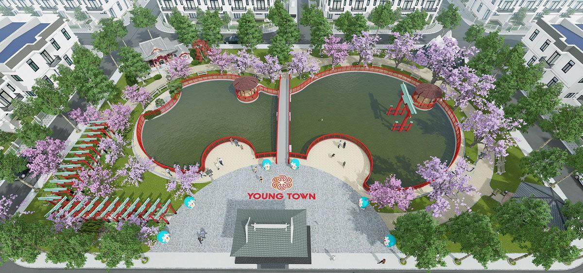 Khu công viên trung tâm Asaka Park tại Young Town Tây Bắc Sài Gòn