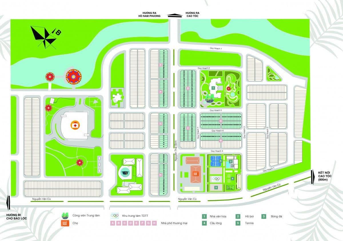 mat bang phan lo bao loc golden city - DỰ ÁN ĐẤT NỀN BẢO LỘC GOLDEN CITY
