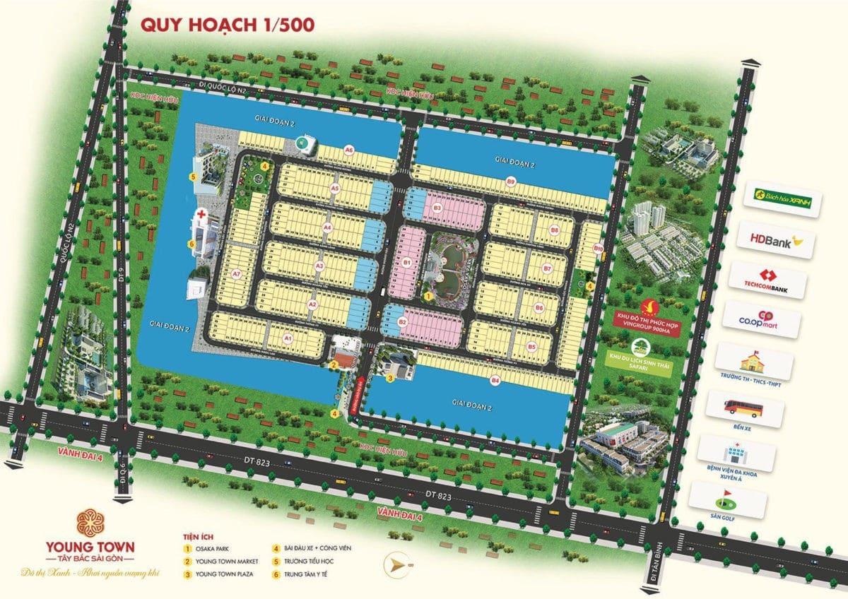 Quy hoạch 1/500 Dự án đất nền Young Town