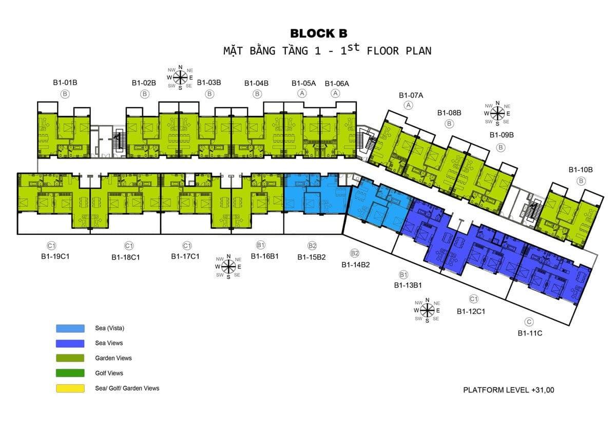 mat bang tang 1 block b can ho Ocean Vista - DỰ ÁN CĂN HỘ OCEAN VISTA PHAN THIẾT