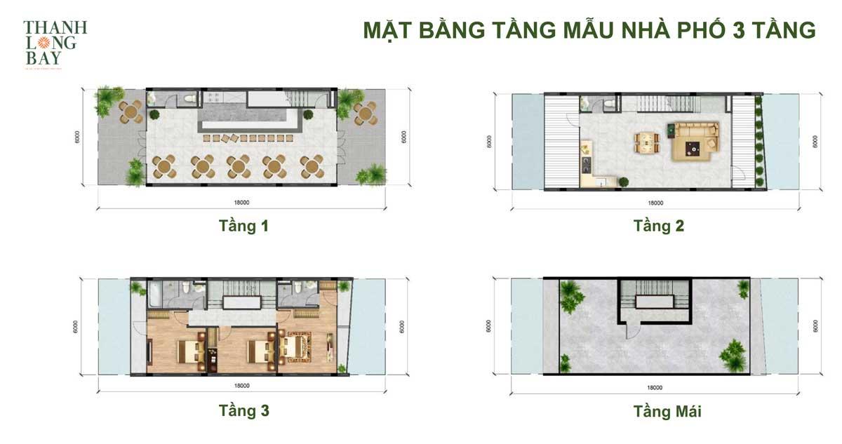 mat bang thiet ke nha pho 3 tang the south - DỰ ÁN THANH LONG BAY PHAN THIẾT BÌNH THUẬN