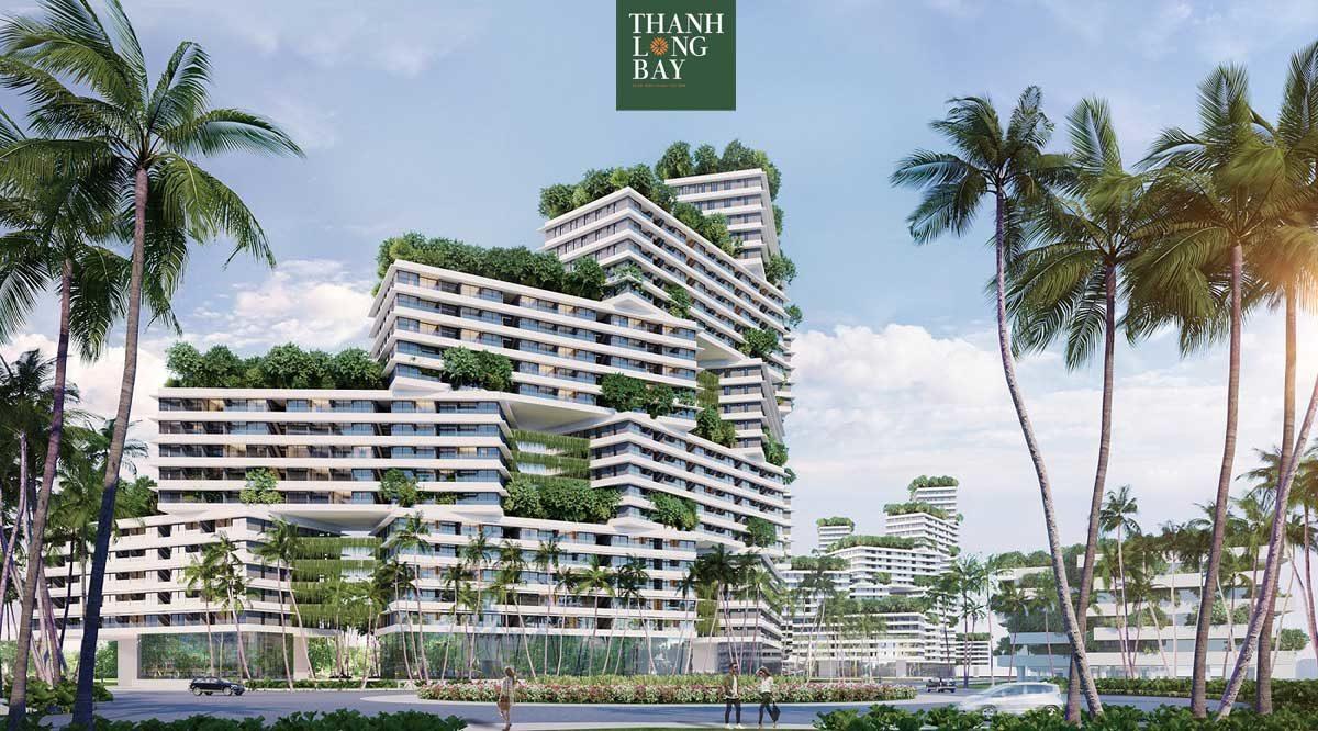 Phối cảnh toàn khu Block Sky Garden Căn hộ Thanh Long Bay Phan Thiết Bình Thuận