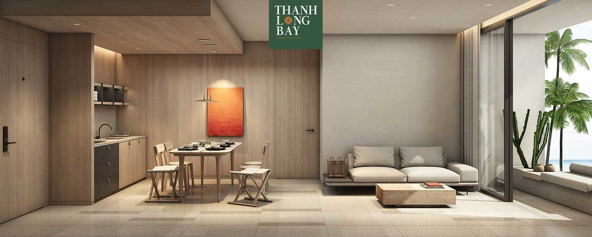 Phòng khách Căn hộ 2PN Block Sky Garden Dự án Thanh Long Bay