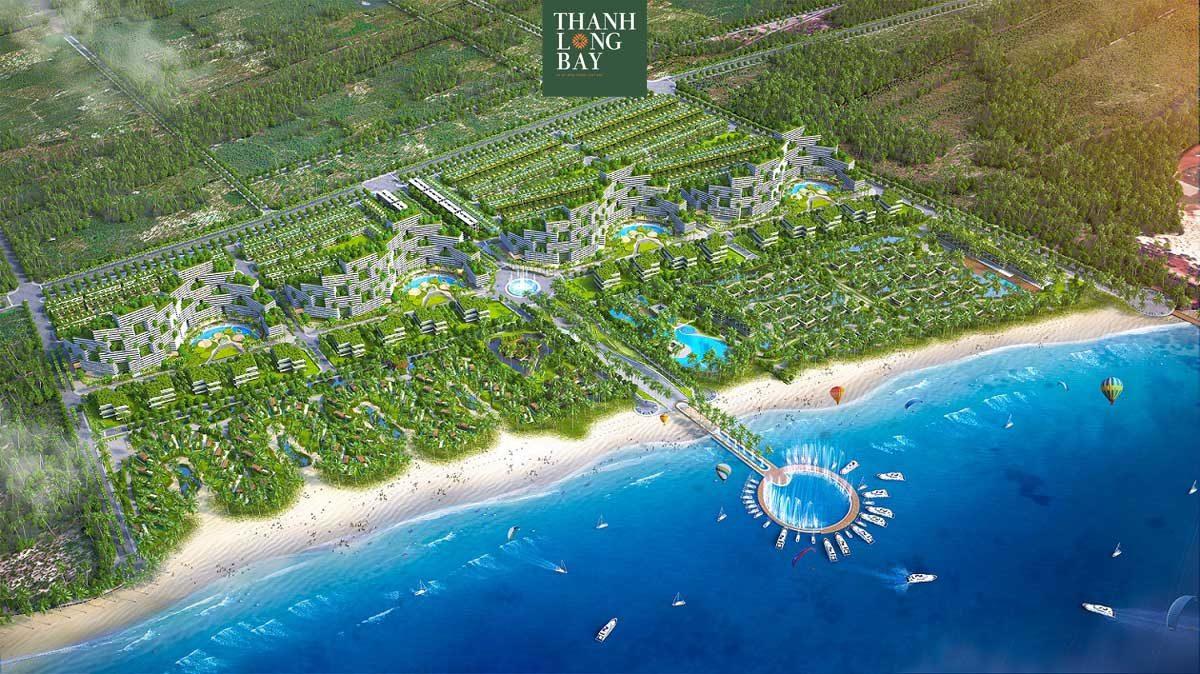 Quảng trường biển tại Dự án KĐT Thanh Long Bay Phan Thiết Bình Thuận