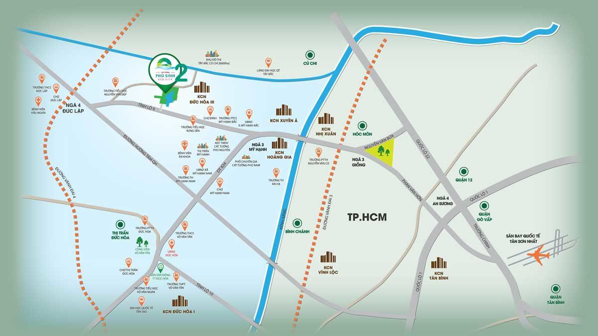 Vị trí Dự án Khu đô thị Cát Tường Phú Sinh 2