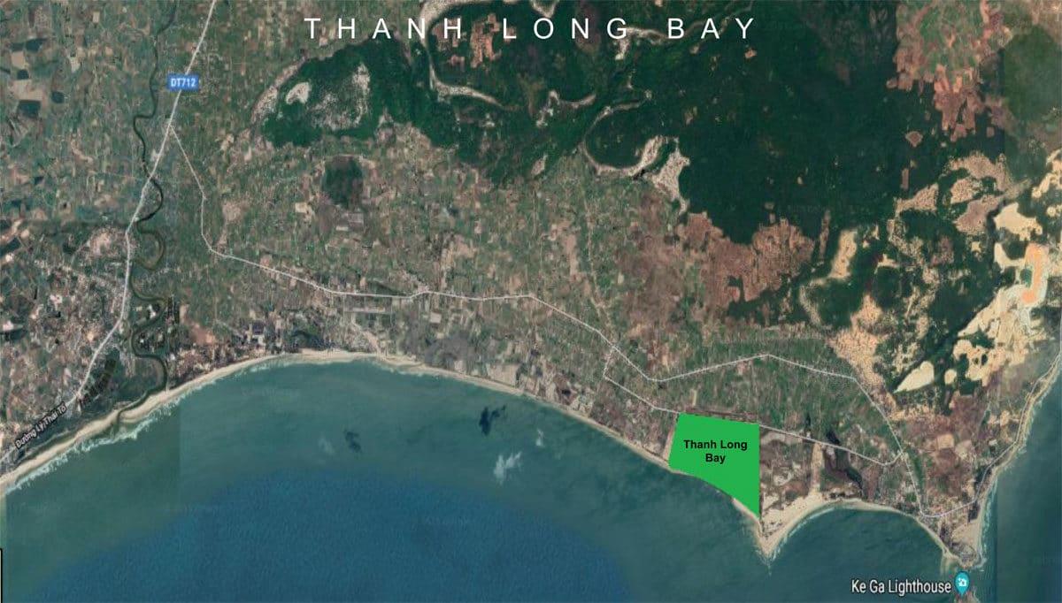 Vị trí khu đất Dự án Khu đô thị Thanh Long Bay Phan Thiết Bình Thuận