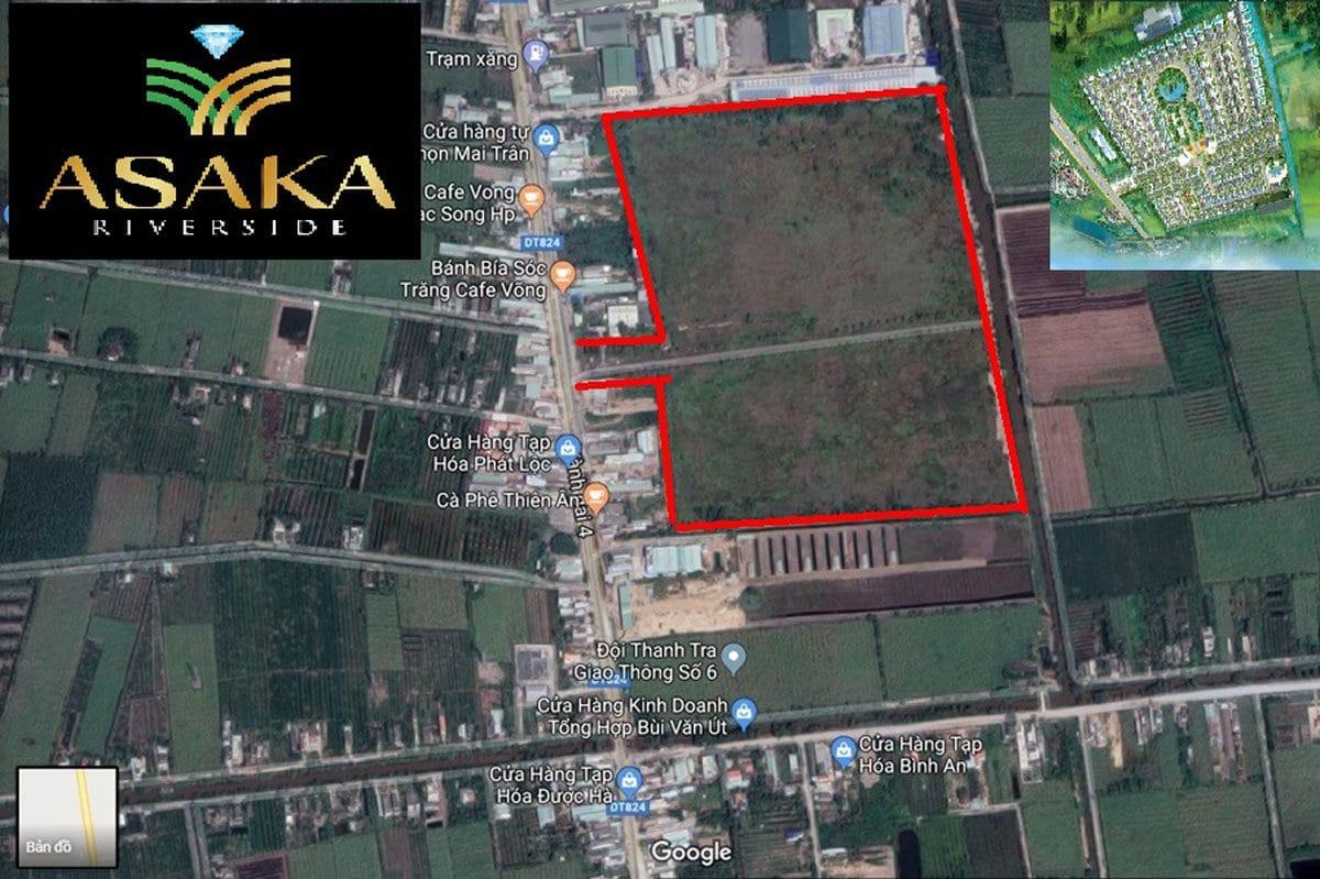 Vị trí thực tế Dự án Asaka Riverside Bến Lức Long An