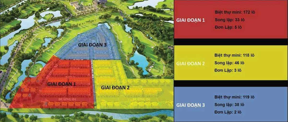Mat bang du an West Lakes Golf Villas - DỰ ÁN WEST LAKES GOLF & VILLAS LONG AN