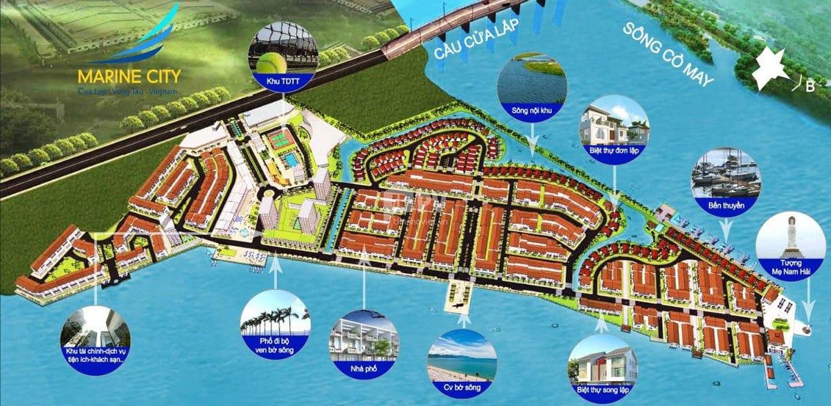 Tiện ích nội khu Dự án Khu đô thị biển Marine City Bà Rịa Vũng Tàu