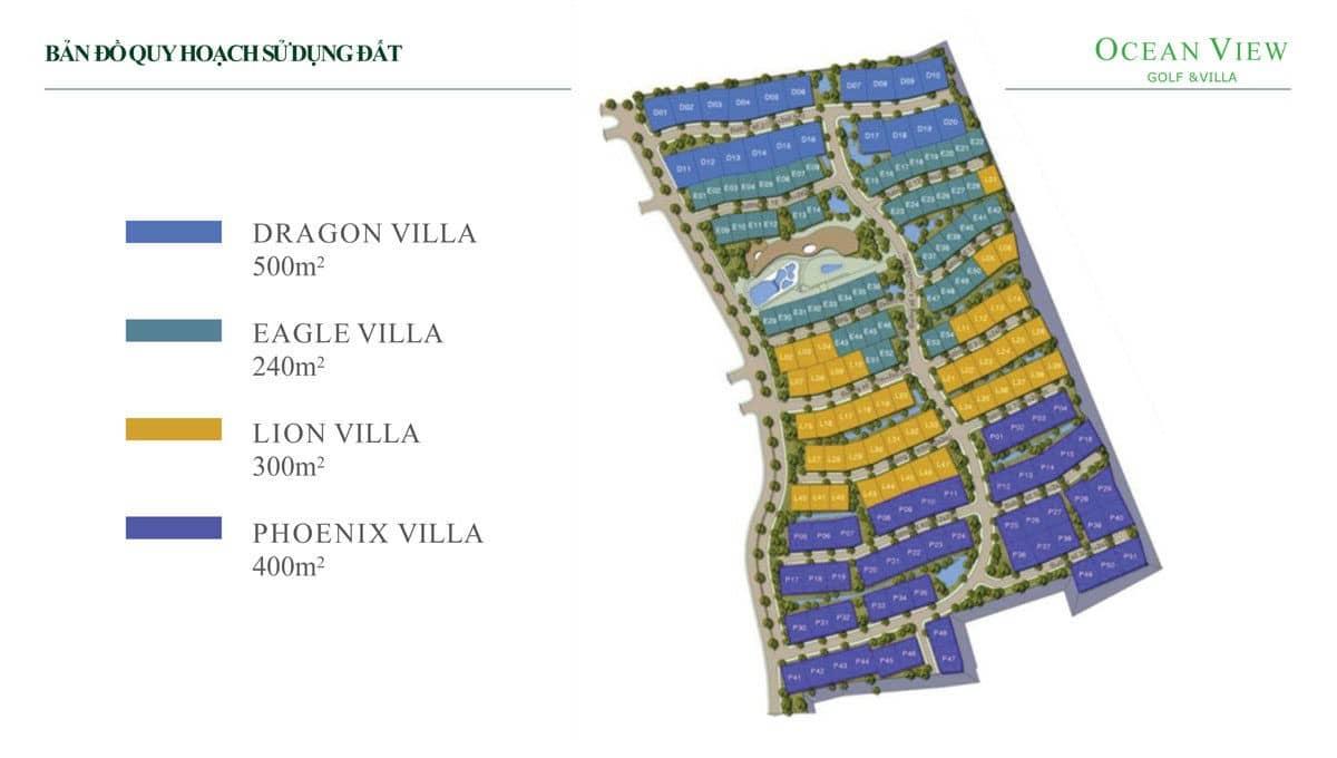 ban do quy hoach du an ocean view golf villas - DỰ ÁN OCEAN VIEW GOLF & VILLAS PHAN THIẾT