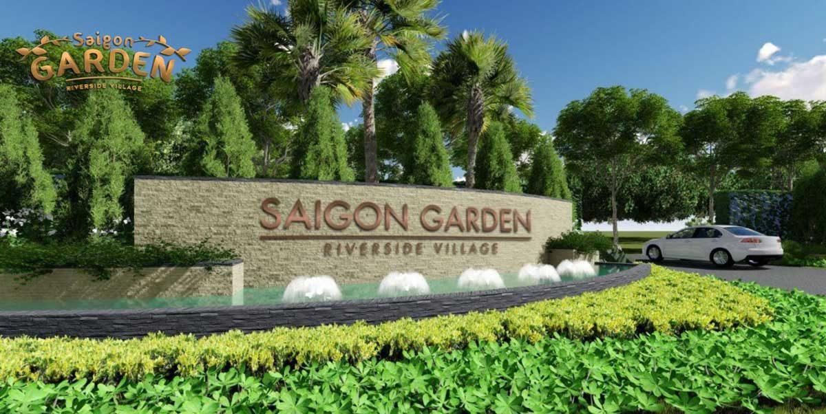 Cổng Dự án Biệt thự Saigon Garden Riverside Village Quận 9