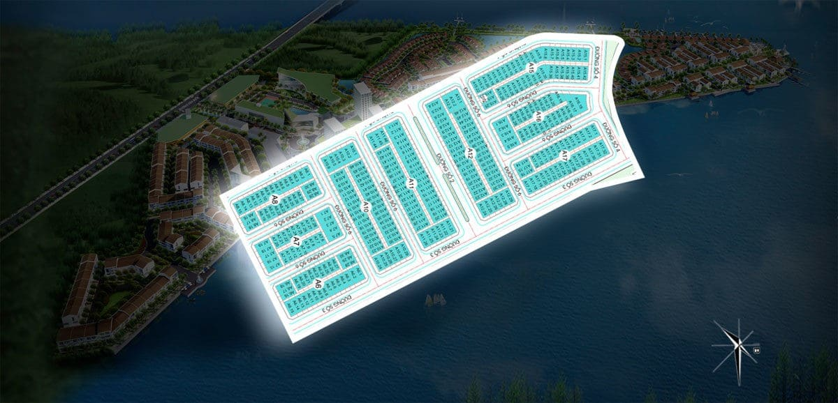 Mặt bằng phân khu Sunrise Dự án Marine City Bà Rịa