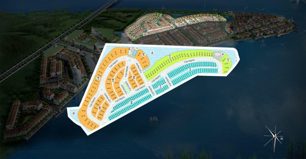 Mặt bằng phân khu Sunset Dự án Marine City Bà Rịa