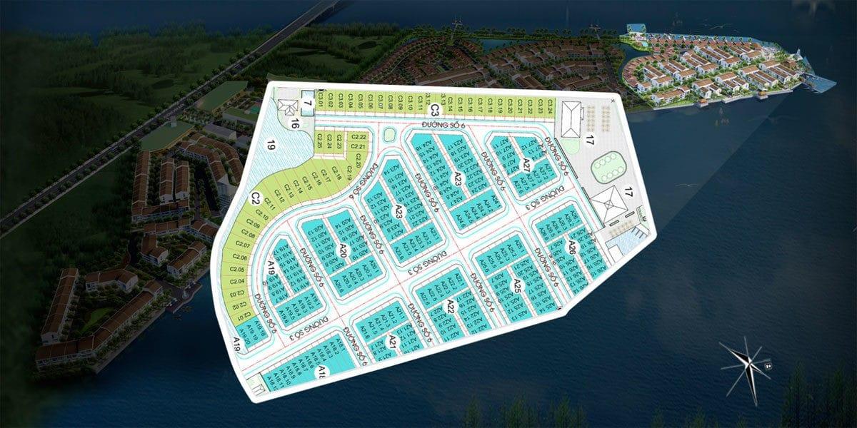 Mặt bằng phân khu Sunshine Dự án Marine City Bà Rịa