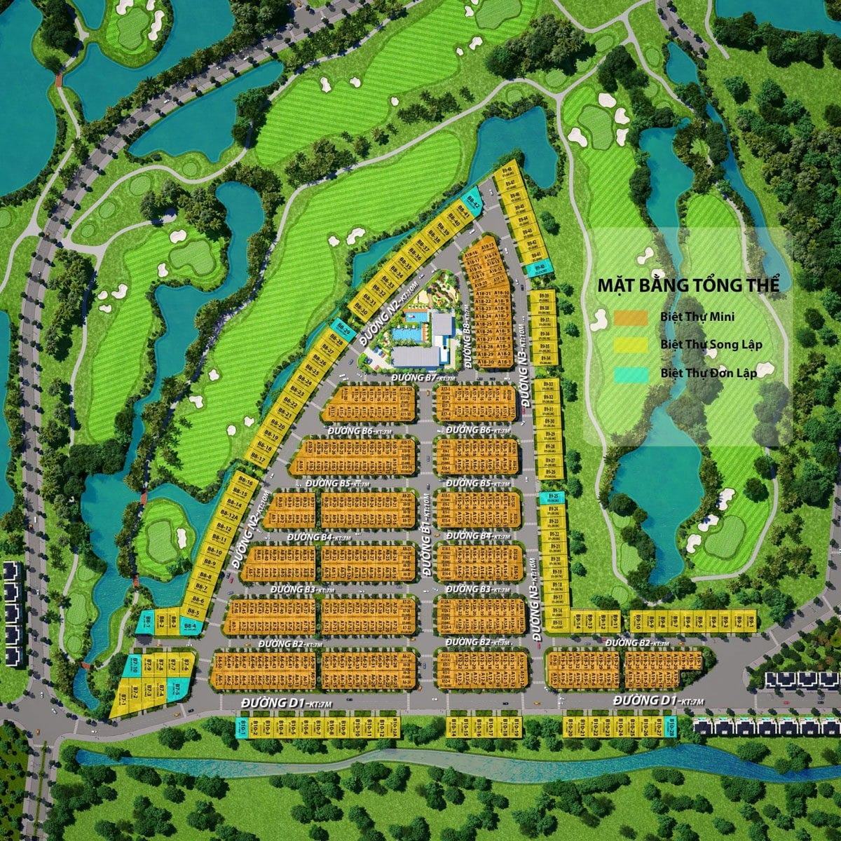 mat bang phan lo du an west lakes golf villas long an - DỰ ÁN WEST LAKES GOLF & VILLAS LONG AN