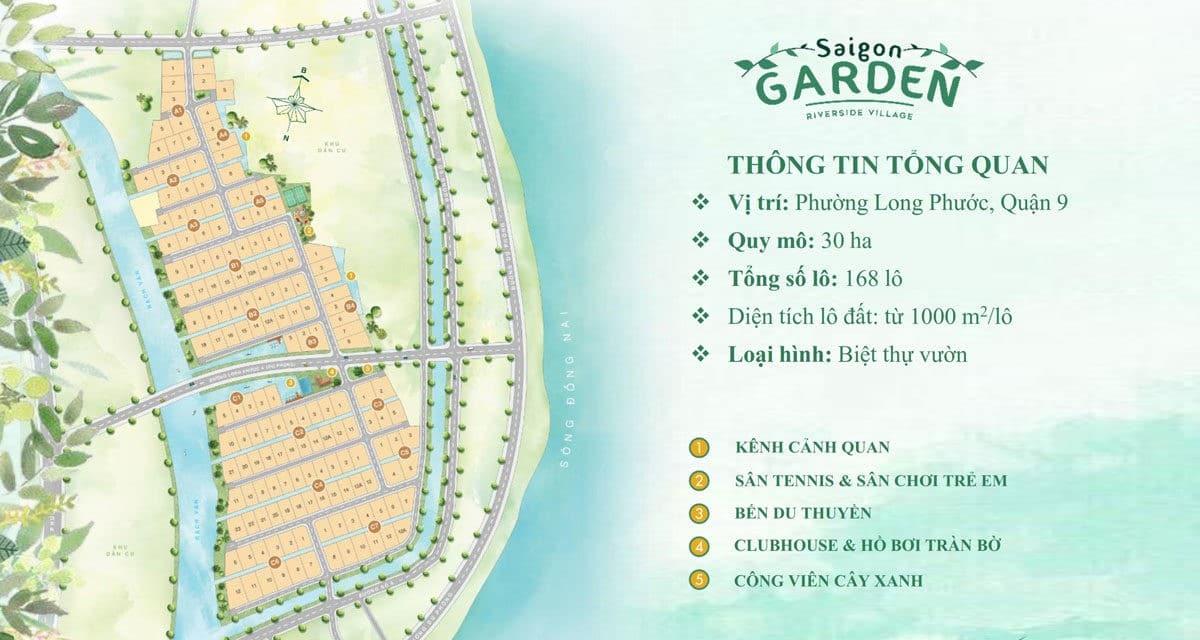 Mặt bằng phân lô Dự án Saigon Garden Riverside Village Quận 9