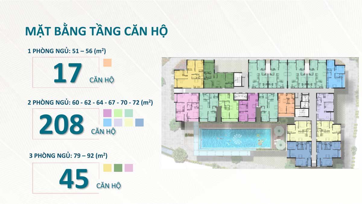 Mặt bằng tầng Dự án Sài Gòn Asiana Nguyễn Văn Luông Quận 6