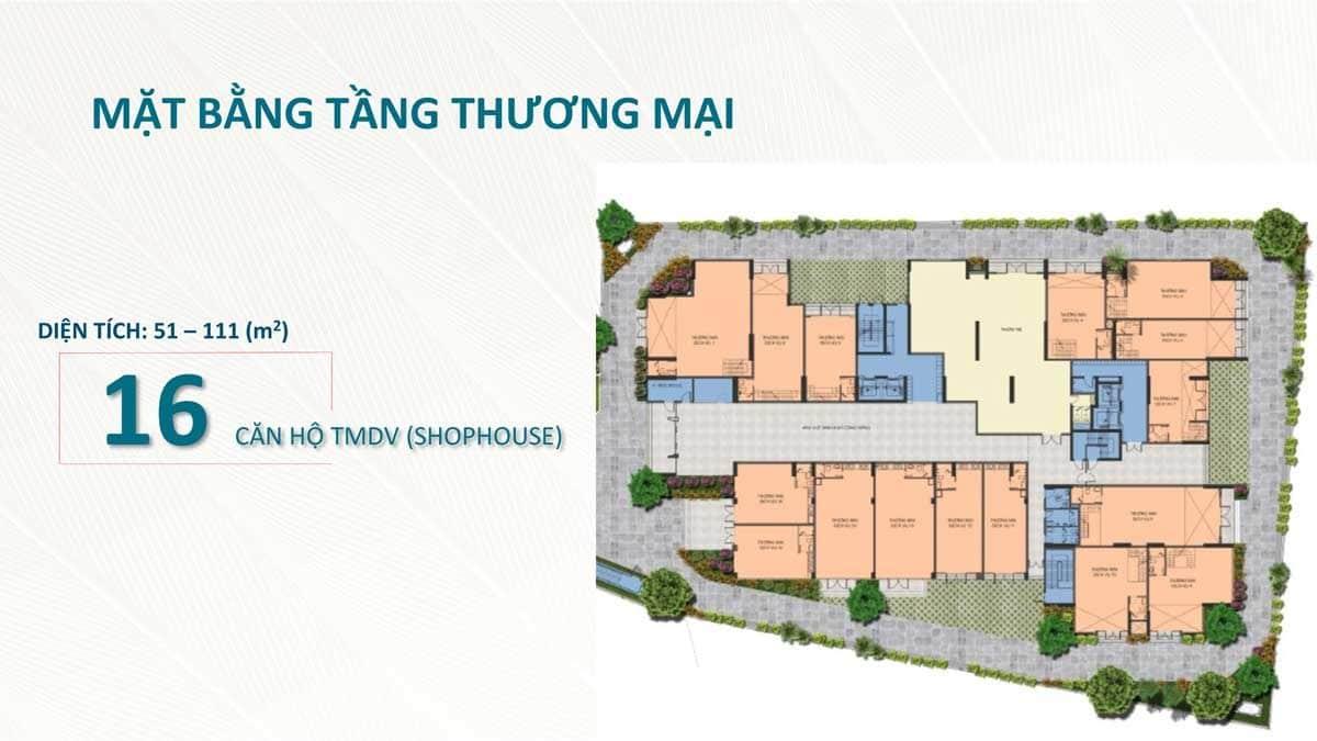 Mặt bằng tầng Thương mại Dự án Sài Gòn Asiana Nguyễn Văn Luông Quận 6