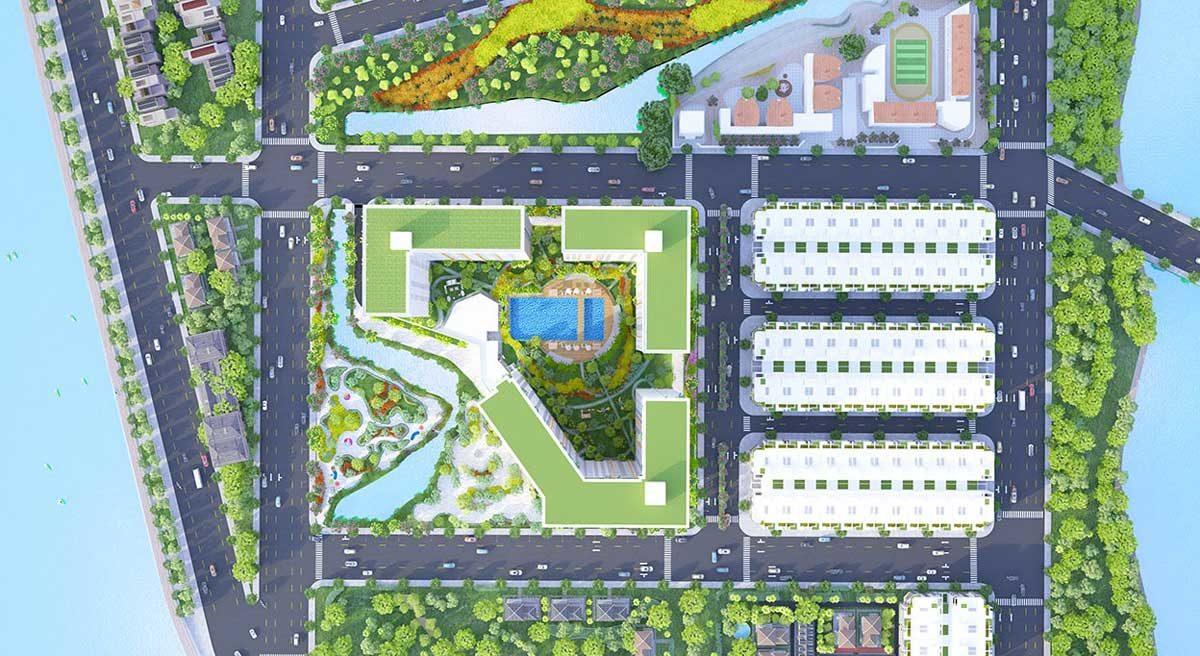 Mặt bằng Tổng thể Dự án Căn hộ City Gate 4 - NNB Garden 4