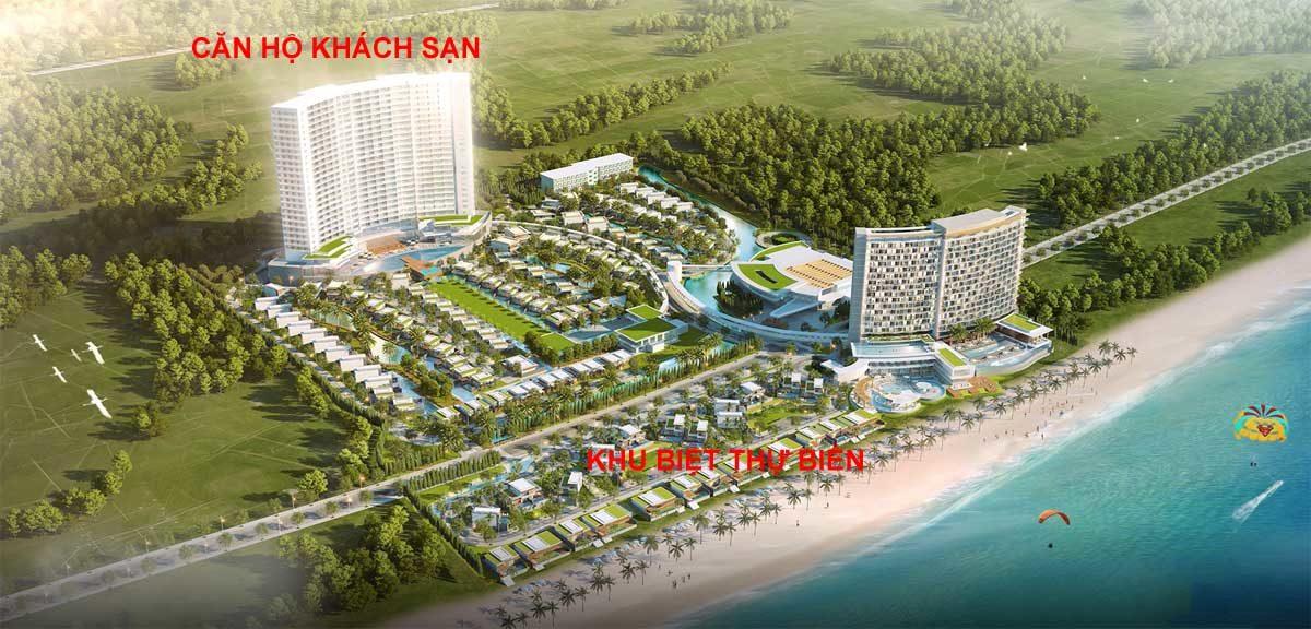 Phân khu Dự án Wyndham Tropicana Long Hải