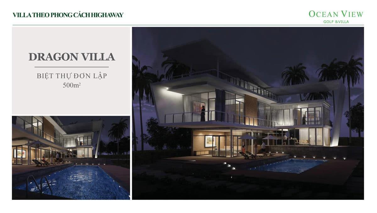 phoi canh biet thu dragon villa du an ocean view golf villas - DỰ ÁN OCEAN VIEW GOLF & VILLAS PHAN THIẾT