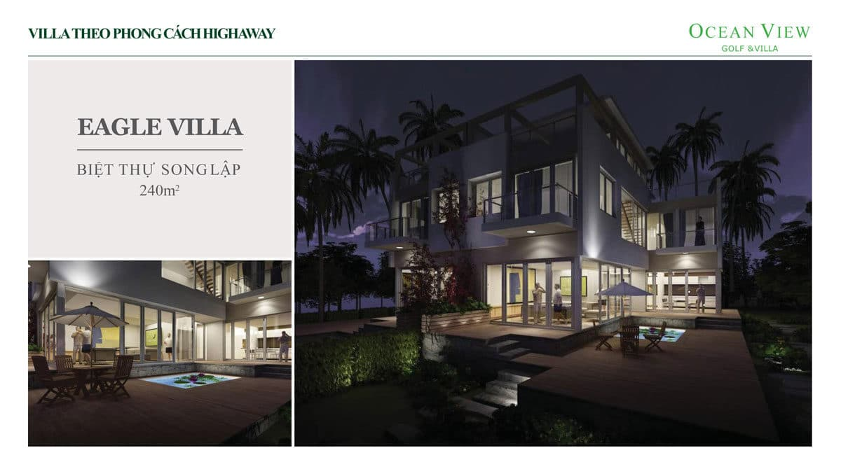 Phối cảnh Biệt thự Eagle Villa Dự án Ocean View Golf & Villas