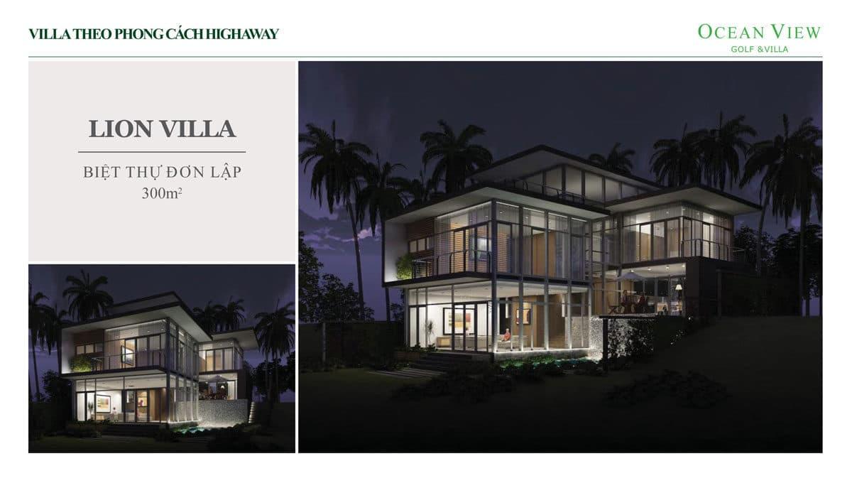 phoi canh biet thu lion villa du an ocean view golf villas - DỰ ÁN OCEAN VIEW GOLF & VILLAS PHAN THIẾT