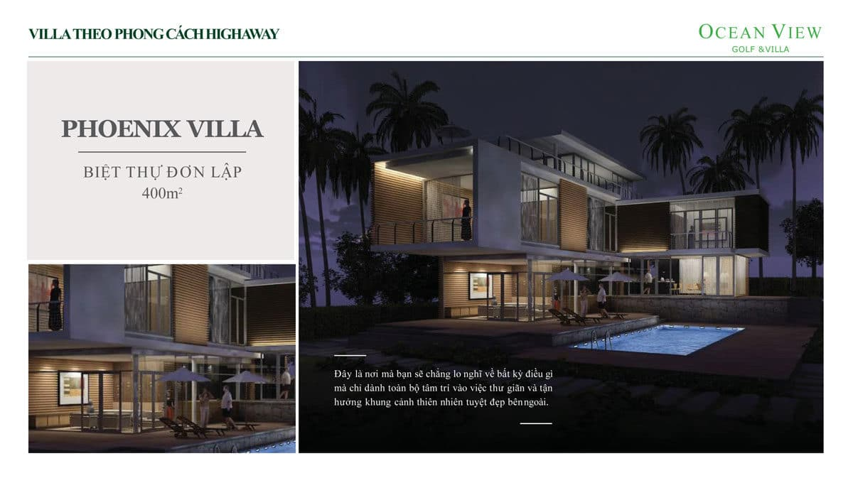phoi canh biet thu phoenix villa du an ocean view golf villas - DỰ ÁN OCEAN VIEW GOLF & VILLAS PHAN THIẾT