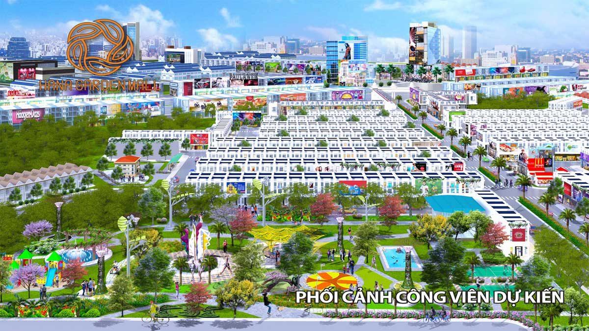 phoi canh cong vien noi khu du an hana garden mall - DỰ ÁN HANA GARDEN MALL BÌNH DƯƠNG