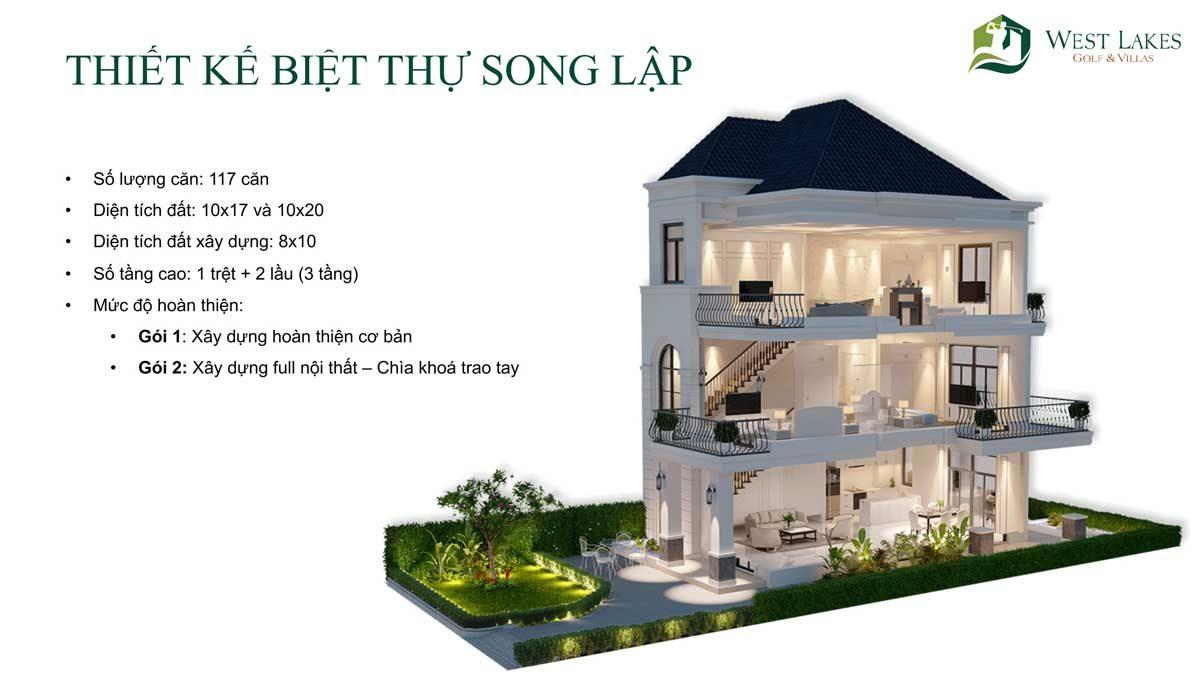 thiet ke biet thu song lap west lakes golf villas - DỰ ÁN WEST LAKES GOLF & VILLAS LONG AN