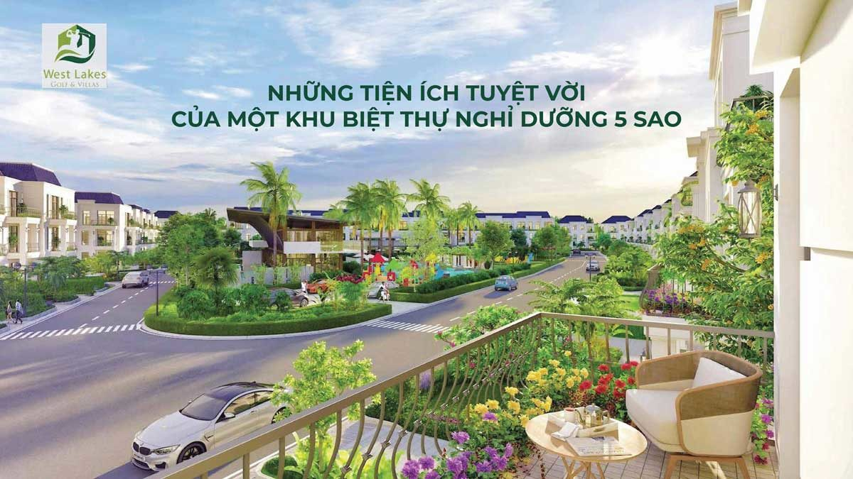 tien ich cong vien noi khu du an west lakes golf villas - DỰ ÁN WEST LAKES GOLF & VILLAS LONG AN