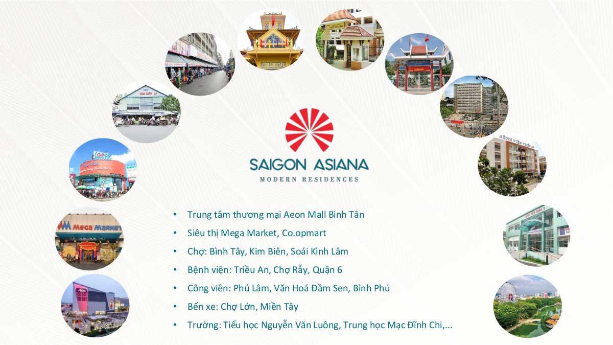 Tiện ích Ngoại khu Dự án Căn hộ Saigon Asiana Quận 6