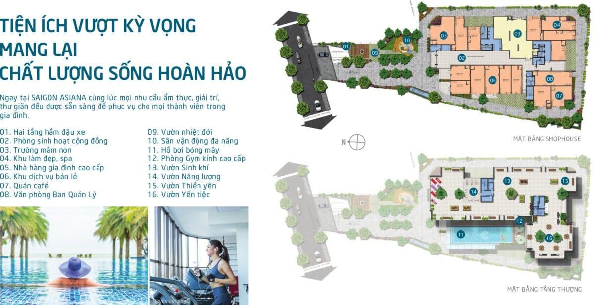 Tiện ích Nội khu Dự án Căn hộ Saigon Asiana Quận 6