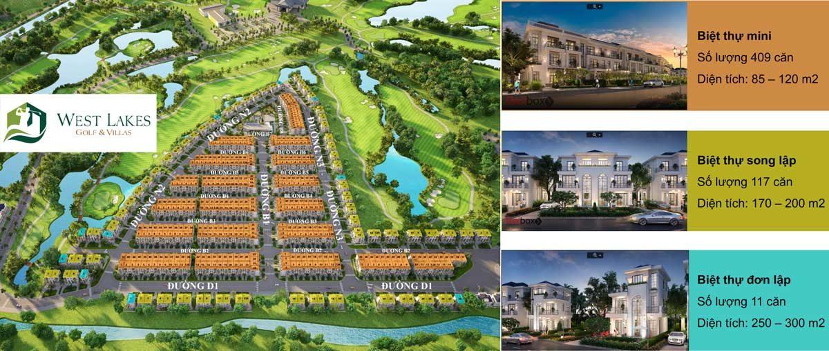 tong the du an west lakes golf villas - DỰ ÁN WEST LAKES GOLF & VILLAS LONG AN