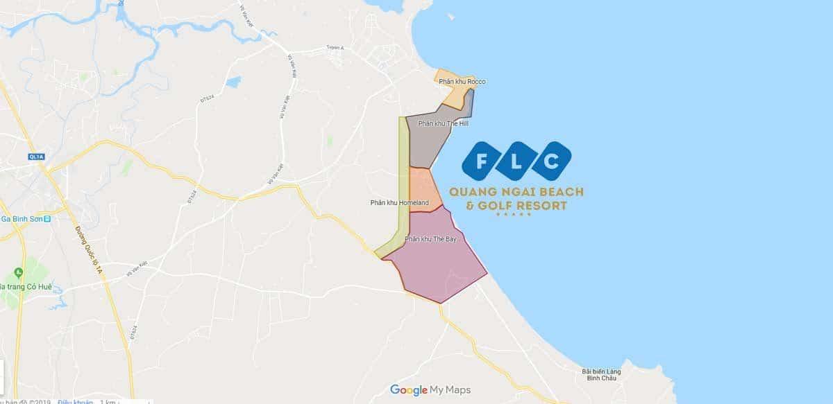 vi tri du an flc quang ngai - DỰ ÁN FLC QUẢNG NGÃI BEACH & GOLF