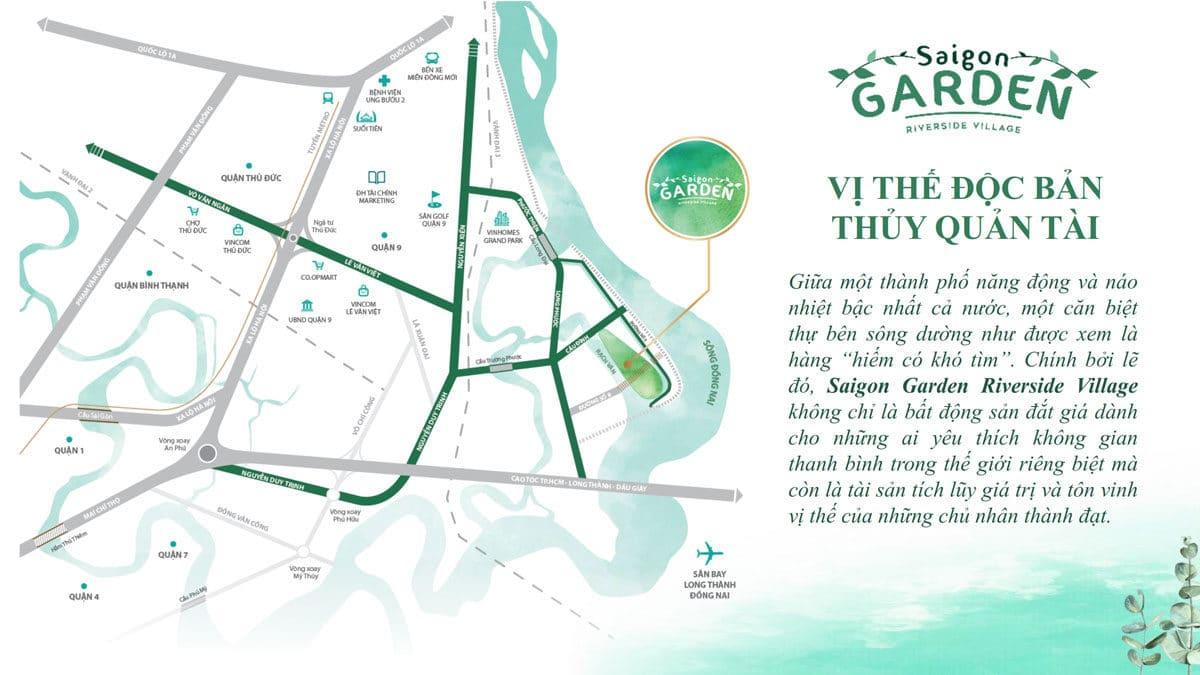 Vị trí Dự án Biệt thự Saigon Garden Riverside Village Quận 9