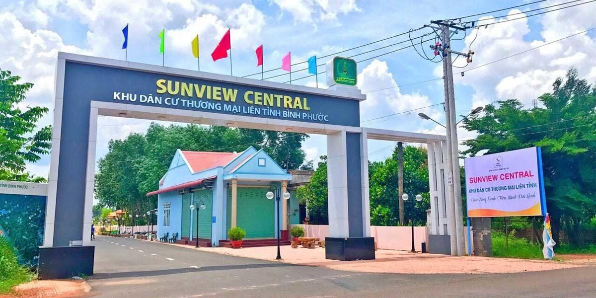 Cổng Dự án Sunview Central Bình Phước