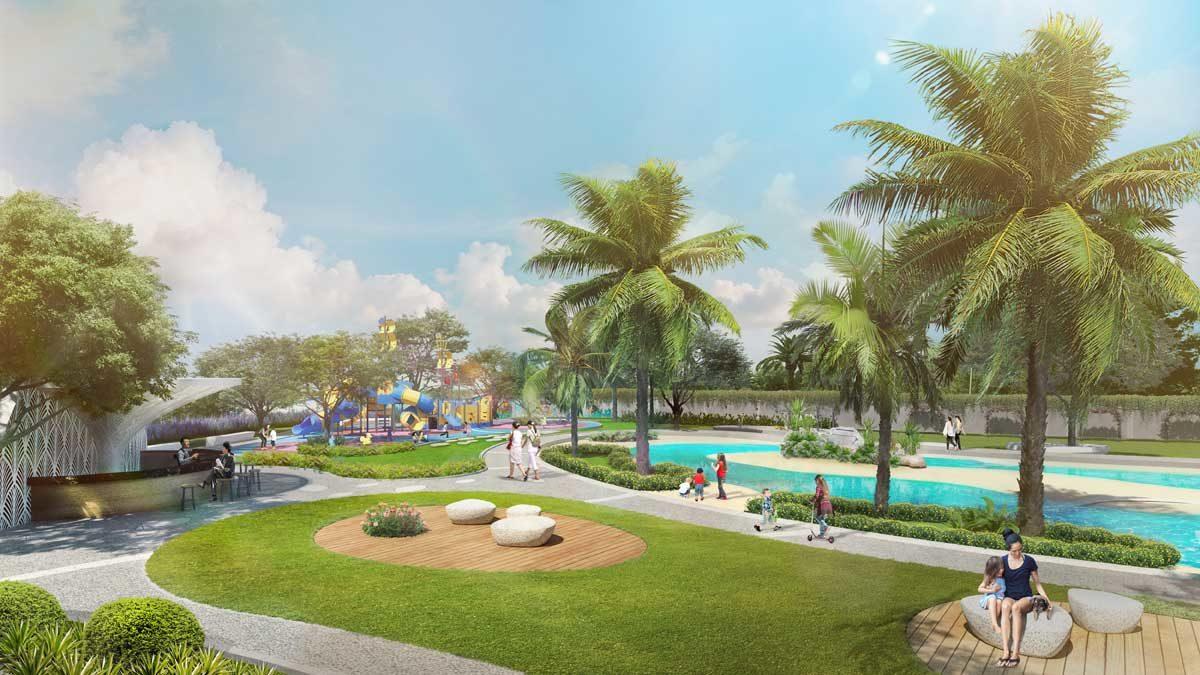 cong vien noi khu du an verosa park - DỰ ÁN NHÀ PHỐ BIỆT THỰ VEROSA PARK QUẬN 9