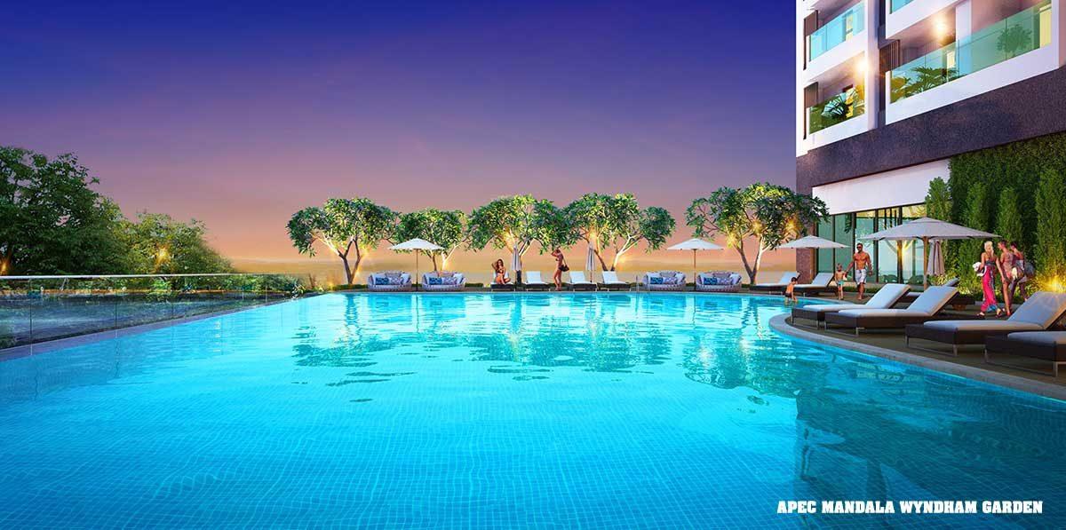 Hồ bơi Dự án Căn hộ Condotel Apec Mandala Wyndham Garden Phú Yên