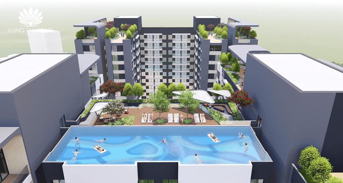 Hồ bơi nội khu Dự án Căn hộ Vũng Tàu Pearl